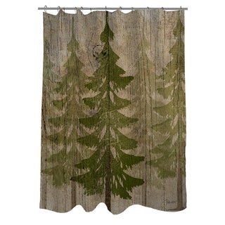 Thumbprintz Pines Shower Curtain
