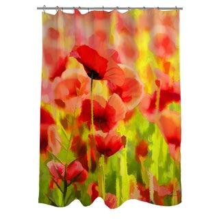 Thumbprintz Poppies Shower Curtain