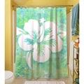 Thumbprintz Sponge Paint Hibiscus Shower Curtain
