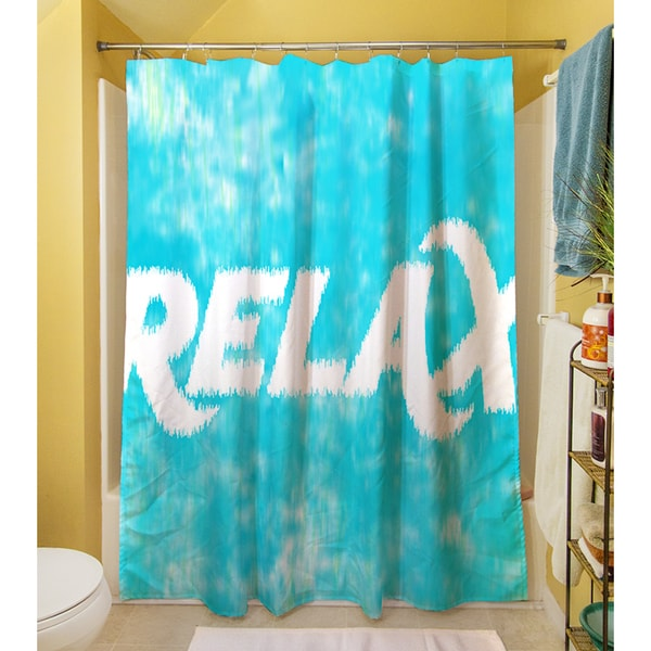 Thumbprintz Sponge Paint Relax Shower Curtain