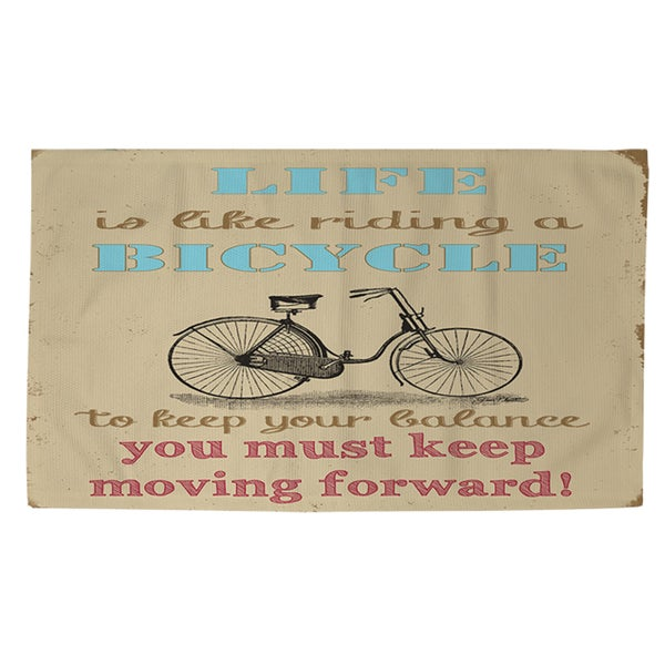 Thumbprintz Life Bicycle Rug (2' x 3')