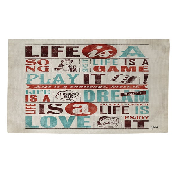 Thumbprintz Life Is Rug (2' x 3')