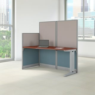 BBF Office-in-an-Hour 65W x 33D Straight Workstation in Hansen Cherry