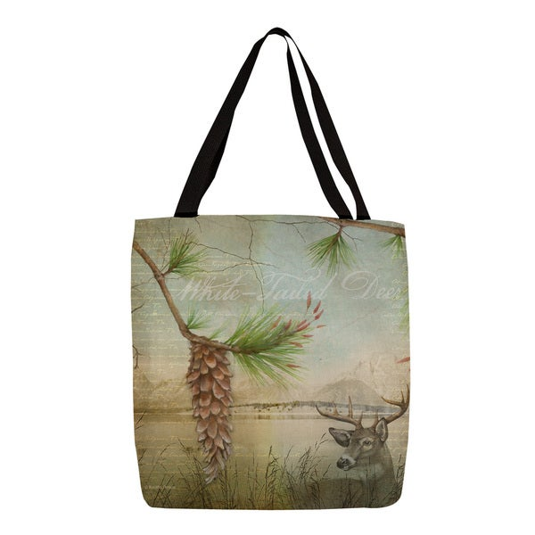 Thumbprintz Conifer Lodge Deer Tote