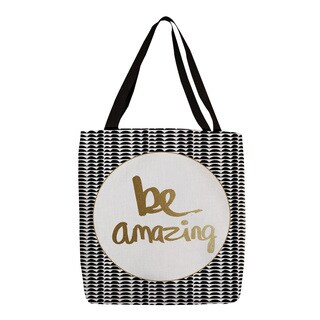 Thumbprintz Be Amazing Black and Gold Tote