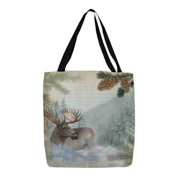 Thumbprintz Conifer Lodge Moose Tote