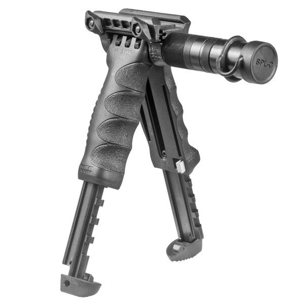 Mako T-PodG2-SL Tactical Foregrip with Integrated Adjustable Bipod and Incorporated Flashlight - Gen 2-Blk