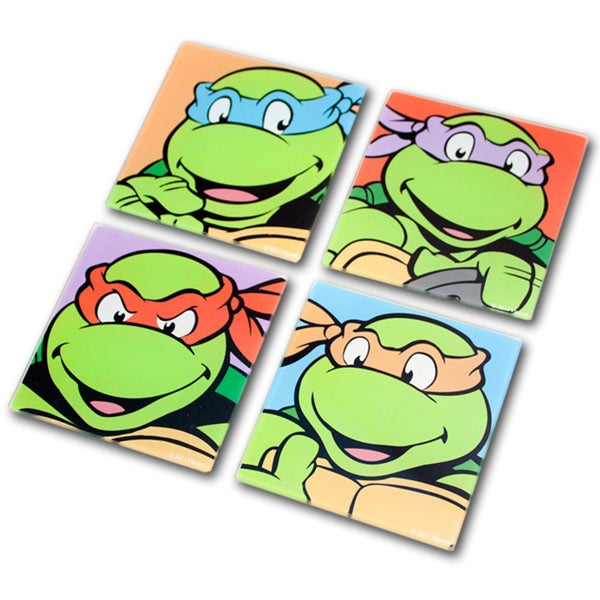 Teenage Mutant Ninja Turtles 4-pack Glass Coasters