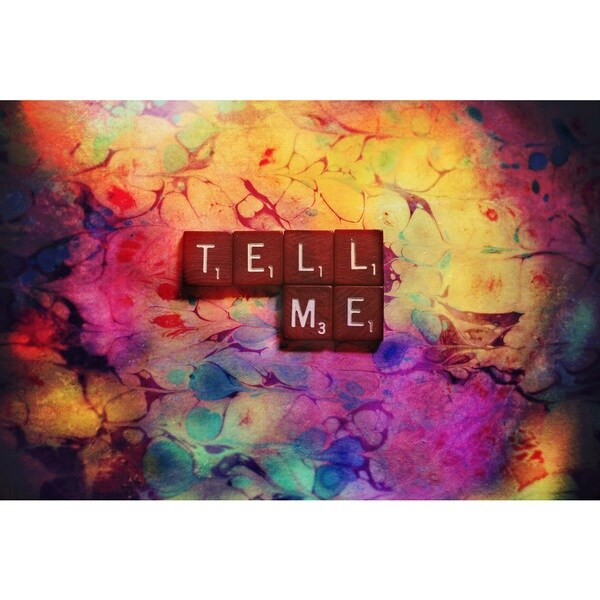 Marmont Hill Art Collective 'Tell Me' Canvas Art