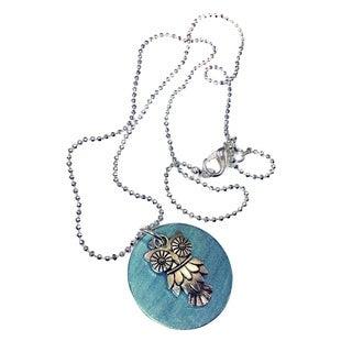 Mama Designs Owl Disc Pendant Necklace
