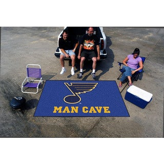 Fanmats Machine-made St Louis Blues Blue Nylon Man Cave Ulti-Mat (5' x 8')