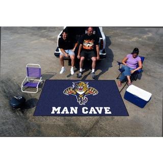 Fanmats Machine-made Florida Panthers Blue Nylon Man Cave Ulti-Mat (5' x 8')