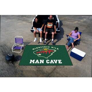 Fanmats Machine-made Minnesota Wild Green Nylon Man Cave Ulti-Mat (5' x 8')
