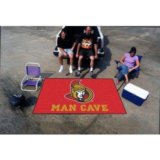 Fanmats Machine-made Ottawa Senators Red Nylon Man Cave Ulti-Mat (5' x 8')