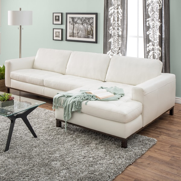 Natuzzi Lindo Cream Leather Sectional