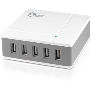 SIIG 5-Port 45W Desktop USB Rapid Charger - White