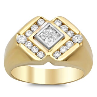 14k Gold Men's 1 1/5 ct TDW Diamond Ring (F-G, SI1-SI2)