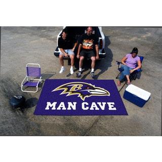 Fanmats Machine-made Baltimore Ravens Purple Nylon Man Cave Ulti-Mat (5' x 8')