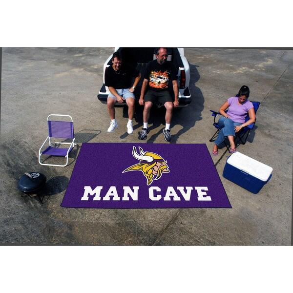 Fanmats Machine-made Minnesota Vikings Purple Nylon Man Cave Ulti-Mat (5' x 8')