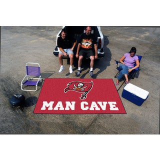 Fanmats Machine-made Tampa Bay Buccaneers Nylon Man Cave Ulti-Mat (5' x 8')