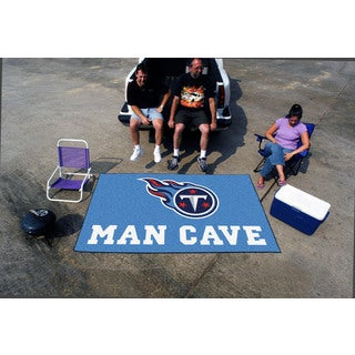 Fanmats Machine-made Tennessee Titans Blue Nylon Man Cave Ulti-Mat (5' x 8')