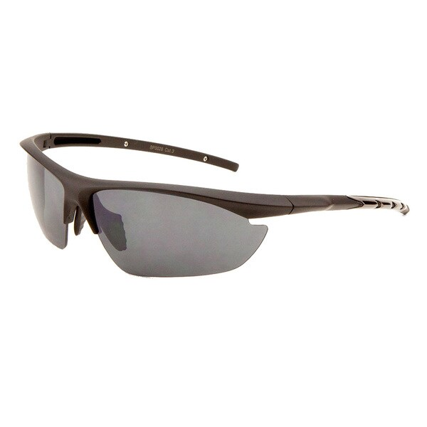 EPIC Eyewear Men's 'Eden' Half Jacket Fashion Sunglasses