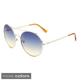 EPIC Eyewear Women's 'Aili' Double Bridge Round Sunglasses