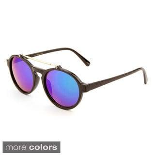 EPIC Eyewear Women's 'Leva' Double Bridge Oval Sunglasses