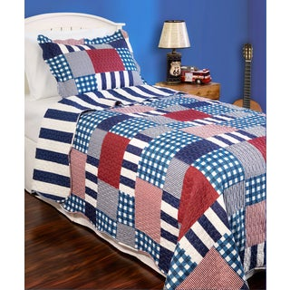 Slumber Shop Harmony Plaid Reversible 3-piece Quilt Set