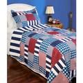 Slumber Shop Harmony Plaid Reversible 3-piece Quilt Set