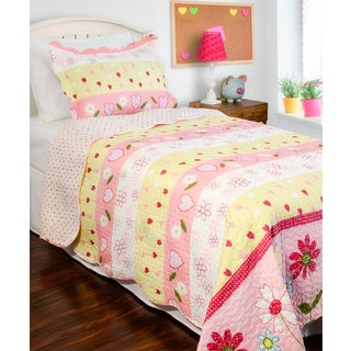 Slumber Shop Daisy Mae Reversible 3-piece Quilt Set