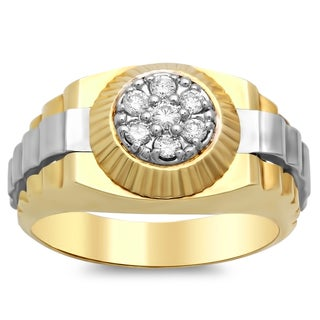 14k Two-tone Gold Men's 1/3 ct TDW Diamond Ring (E-F, SI1-SI2)