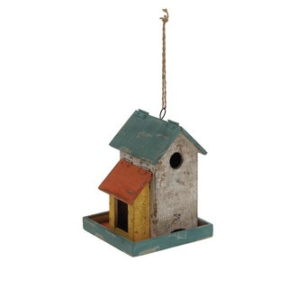 Wood Birdhouse 8 Inches Wide x 18 Inches High