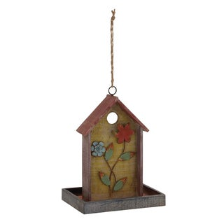 Wood Birdhouse 10 Inches Wide x 22 Inches High