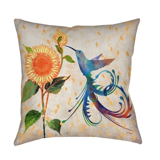 Thumbprintz Daisy Hum Neutral Decorative Pillow