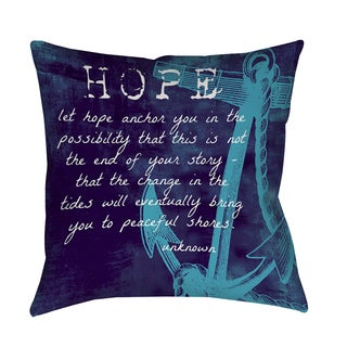 Thumbprintz Let Hope Anchor You Indoor/ Outdoor Pillow