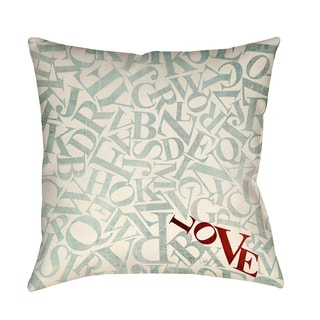 Thumbprintz Love Alphabet Jumble Decorative Throw Pillow