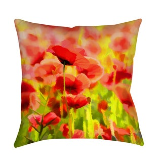 Thumbprintz Poppies Decorative Pillow