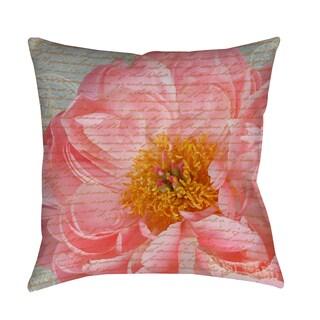 Thumbprintz Pink Rose Cursive Indoor/ Outdoor Pillow
