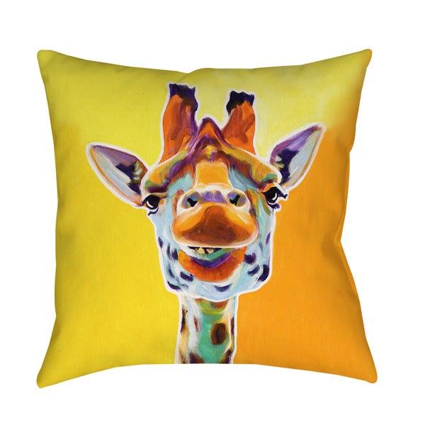 Thumbprintz Giraffe No 3 Decorative Pillow