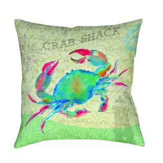 Thumbprintz Salty Air Crab Decorative Pillow
