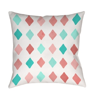 Thumbprintz Marsala and Teal Diamonds Decorative Throw Pillow