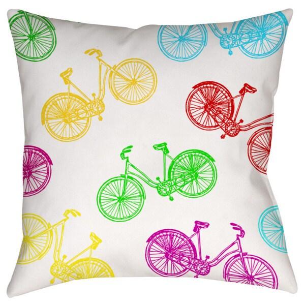 Neon Party Bike Pattern Decorative Pillow 15332132