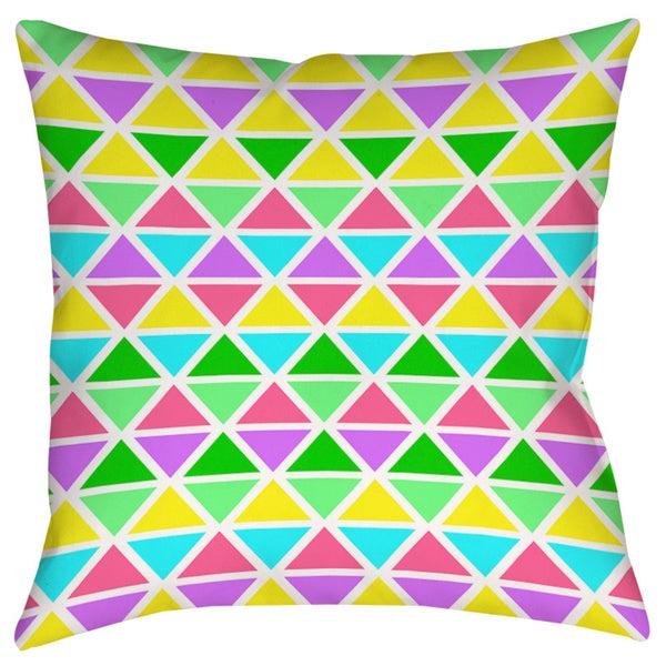 Neon Party Geo Pattern Decorative Pillow 15332178