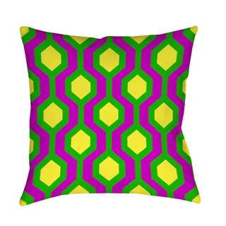 Thumbprintz Neon Party Honeycomb Pattern Decorative Pillow