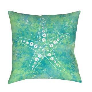 Thumbprintz Sponge Paint Starfish Indoor/ Outdoor Pillow