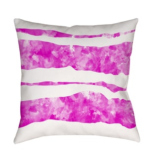 Thumbprintz Summer Florals Pink Stripe Indoor/ Outdoor Pillow