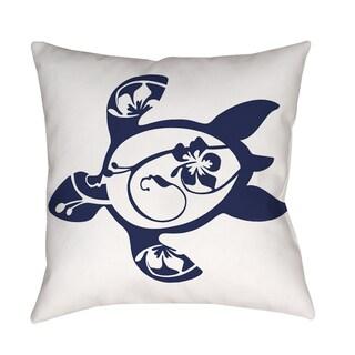Thumbprintz Honu Turtle Navy Decorative Pillow