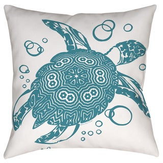 Thumbprintz Honu Turtle Teal Decorative Pillow