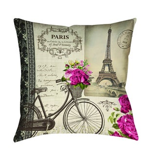 Thumbprintz Springtime in Paris Bicycle Decorative Throw Pillow